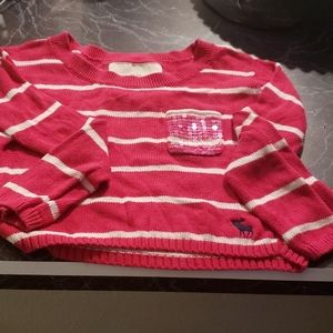 Cropped  girls long sleeved sweater